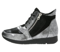 Sneaker high silver/black