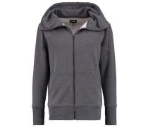 Sweatjacke - mottled dark grey