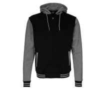 2TONE ZIP Sweatjacke black / grey