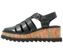 Plateausandalette negro/multicolor