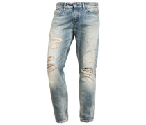 SLIM STRAIGHT Jeans Slim Fit destroyed denim