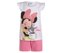 MINNIE MOUSE SET Shorts weiß/rosa