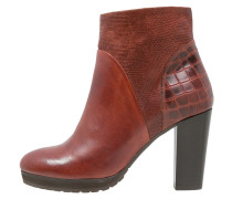 High Heel Stiefelette brandy