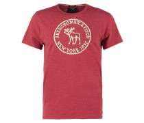 HERITAGE CORE MUSCLE FIT - T-Shirt print - red
