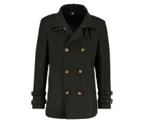 MELTON Wollmantel / klassischer Mantel green melange