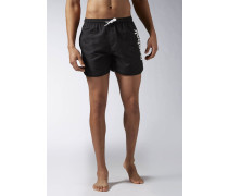 RETRO Badeshorts black/white