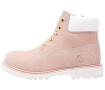 RIVER Schnürstiefelette pink/white