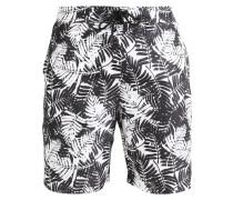 TROPICAL PALM - Badeshorts - black/white