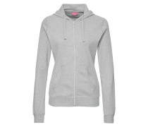 WONDERLA Sweatjacke light grey melange