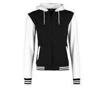 2TONE ZIP Sweatjacke black/white