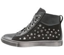 Sneaker high altsilber/steel