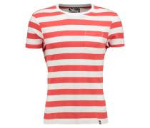 TShirt basic light red/white