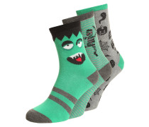 GLOW 3 PACK Socken happy green