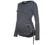 Langarmshirt navy/ecru stripes