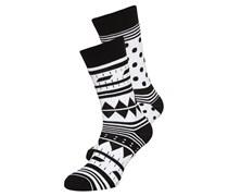 2 PACK Socken black/white