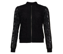 GEO LACE - Strickjacke - black