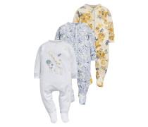 3 PACK - Pyjama - white/blue
