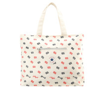 Shopping Bag natural/navy/red