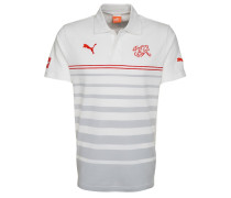SCHWEIZ LEISURE HOOPED POLO Fanartikel white/red