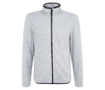 Fleecejacke mottled grey