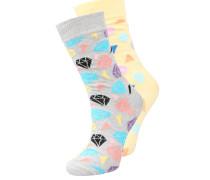 2 PACK - Socken - grau/gelb