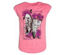 CHUCKS N ROSES TShirt print neo pink/snow heather
