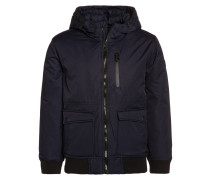 Winterjacke knitted navy