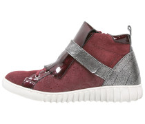 Sneaker high bordeaux combi