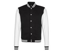 Sweatjacke black/white