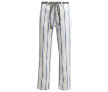 Stoffhose white/blue