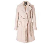 Wollmantel / klassischer Mantel pink