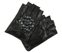 Kurzfingerhandschuh black/black