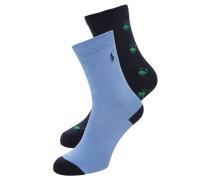 2 PACK Socken blue