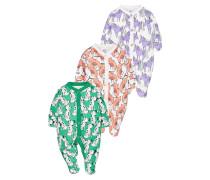 3 PACK - Pyjama - purple/green/pink