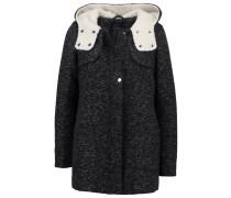 Wollmantel / klassischer Mantel black/dark grey