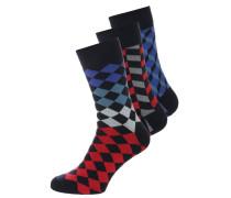 3 PACK Socken black/grey/blue/red