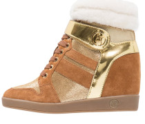 Sneaker high cognac/yellow/brown