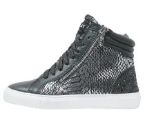 Sneaker high black silver