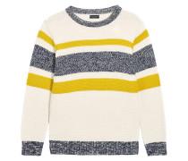 Strickpullover - white/yellow