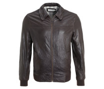 Lederjacke brown