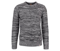 ACCENT - Strickpullover - snow/black/grey heather