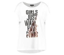GIRLS JUST WANNA HAVE FUNDS - T-Shirt print - white