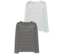 2 PACK Langarmshirt grey