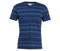SET IN SUNSET - T-Shirt basic - major stripe light medium indigo