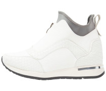 TEAGAN ZIP FRONT STRETCH LO TOP Sneaker high white