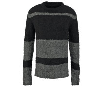 STONES Strickpullover charcoal/black