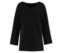 Strickpullover washed black