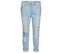 LIV - Jeans Relaxed Fit - light stone wash denim