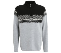 ST. MORITZ Strickpullover metal grey/schiefer/black/off white