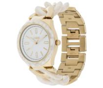 Uhr goldfarben/weiß